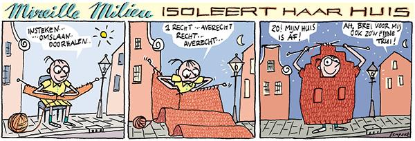 strips: Mireille Milieu | cartoon: huis isoleren | Femke van Heerikhuizen