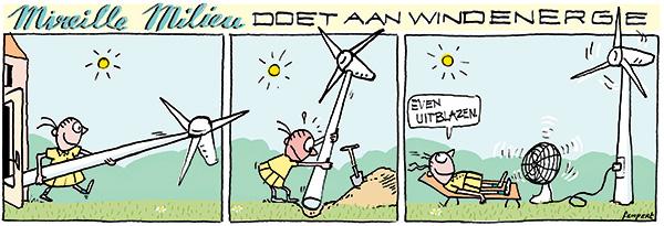 strip | cartoon: eigen windmolen | Femke van Heerikhuizen