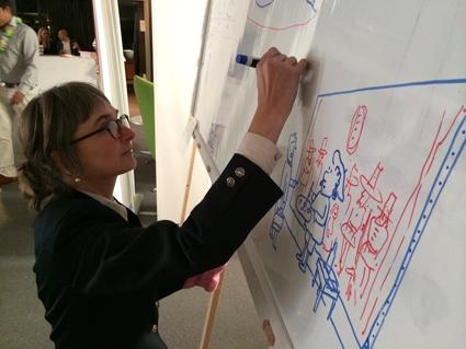 Tekenaar aan Tafel   visueel verslag   live tekenen